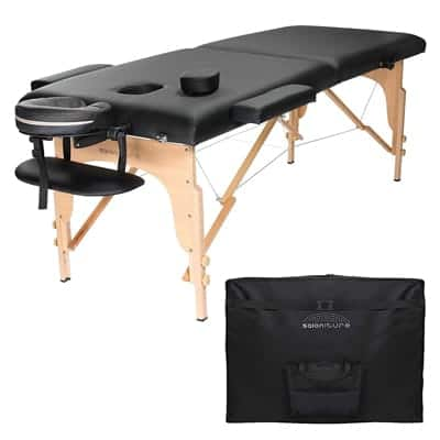 Saloniture Portable Massage Table with Case