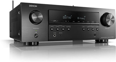 5. Denon Audio Receiver with 6 Inputs
