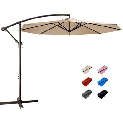 KITADIN Patio Umbrella with Crank Lift