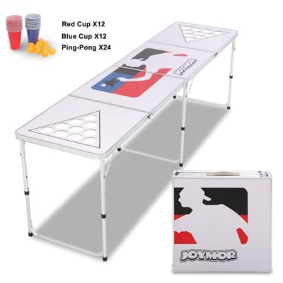 4. JOYMOR Stable Foldable Beer Pong Tables