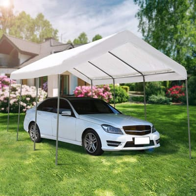 10. AECOJOY Carport Canopy with Steel Frames