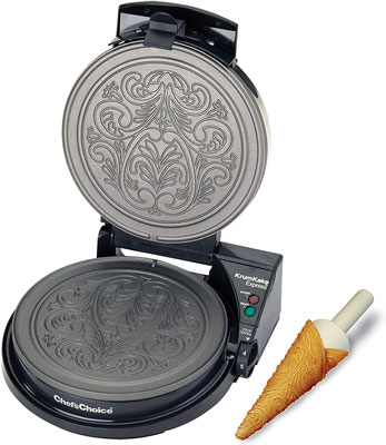 4. Chef'sChoice Pizzelle Maker with LED