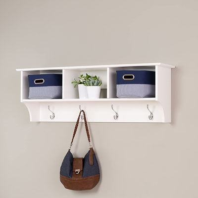 1. Prapc Store White Shelf