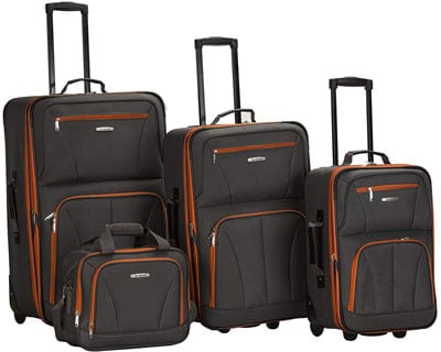 3. Rockland Charcoal Luggage Set