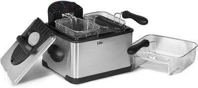 6. Elite Gourmet Deep Fryer with Timer