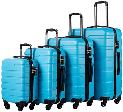 1. COOLIFE Luggage Set Spinner