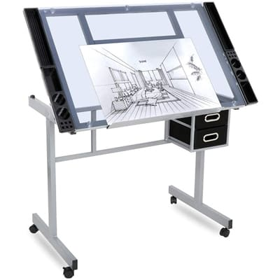 Nova Microdermabrasion Drafting Table with Compartments