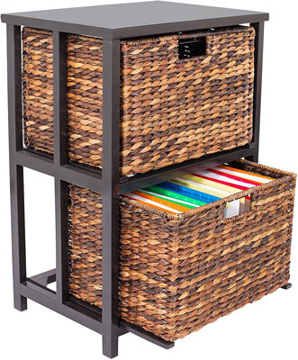 2. BirdRock Home Cubby Cabinet with 2 Tiers