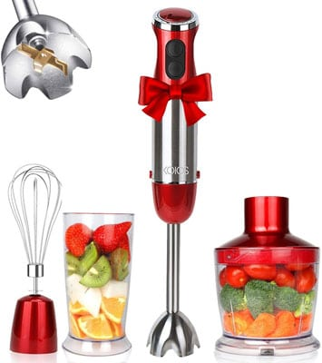 2. KOIOS 800W 4-in-1 Multifunctional Immersion Blender