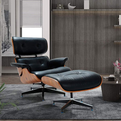 7. 1 inch Leather Lounge Chair
