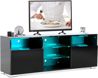 4. Mecor TV Entertainment Center with LED