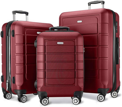 4. SHOWKOO 3-Piece Luggage Set