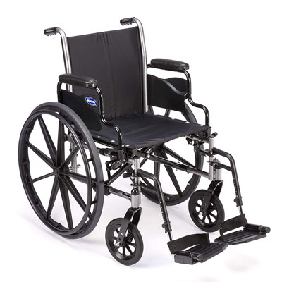 7. Invacare Wheelchair with Footrests