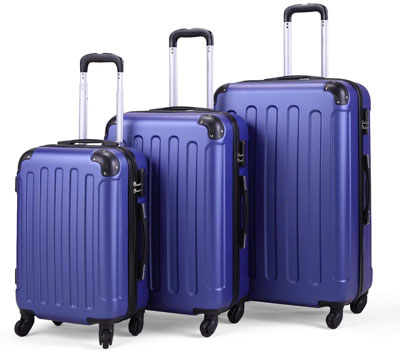 9. JAXPETY Adjustable-Height Luggage Set