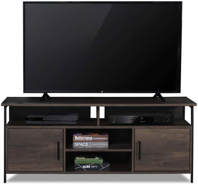 1. Sekey Wood Entertainment Center with TV Stand