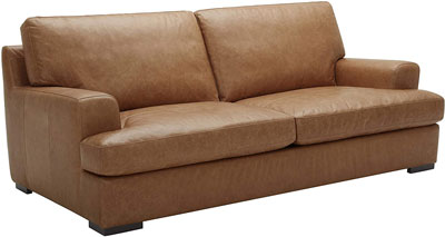 2. Stone & Beam Hardwood and Leather Sofa