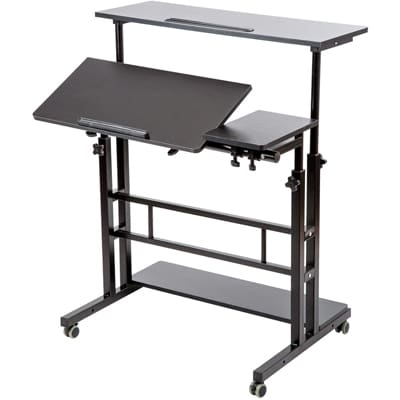 SIDUCAL Mobile Laptop Desk with Wheels