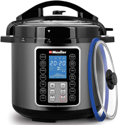 3. Mueller Austria Electric Pressure Cooker with Glass Lid