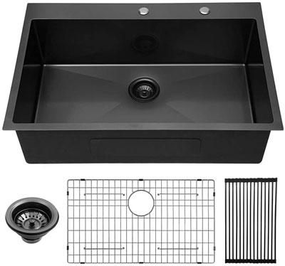 7. Lordear Single Bowl Sink with Round Corners