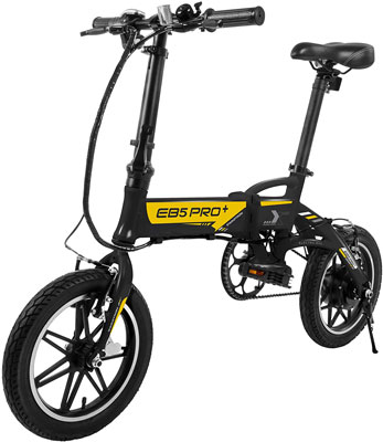 2. Swagtron Folding Electric Bike with Removable Battery