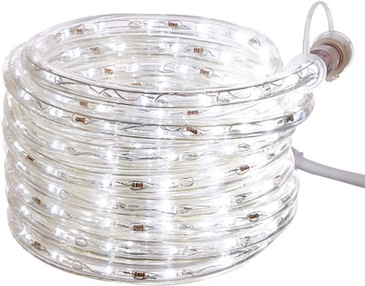6. AmazonBasics LED Rope Light for Indoor Outdoor Use