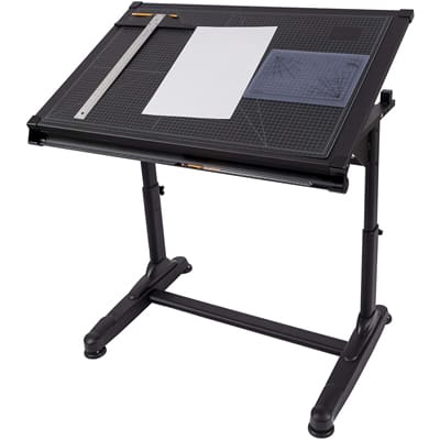S Stand Up Black Adjustable Drawing and Drafting Table
