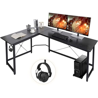 AuAg Modern L-Shaped Home Desk
