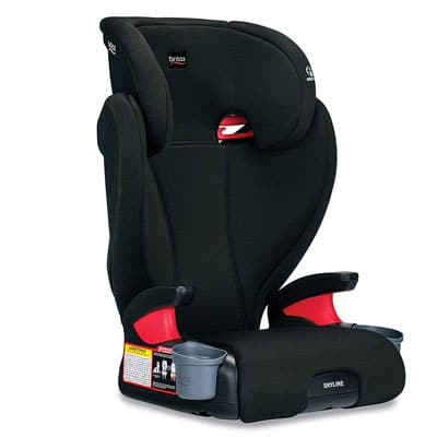 7. Britax Skyline Booster with Cup Holders