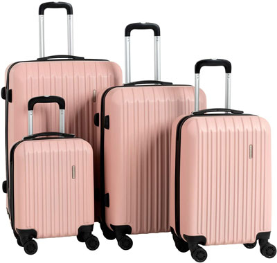 5. Murtisol Rose Gold Luggage Set