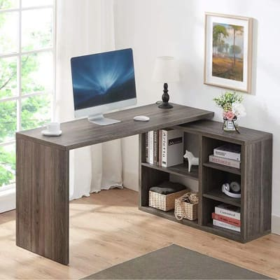 HSH L-Shaped Wood Computer Desk