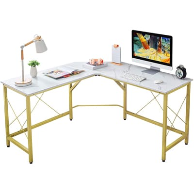 "Mr. IRONSTONE 59"" L-Shaped Desk"