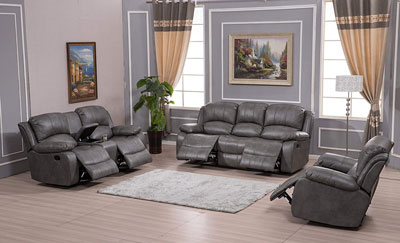 6. Betsy Bonded Leather Living Room Sofa