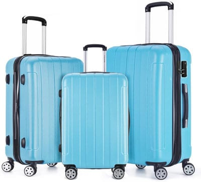 8. FOCHIER Expandable Luggage Set