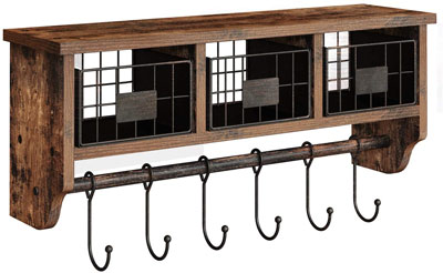 6. Rolanstar Entryway Storage Shelves