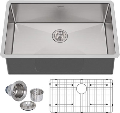 10. Hykolity Bowl Sink with Thick Padding