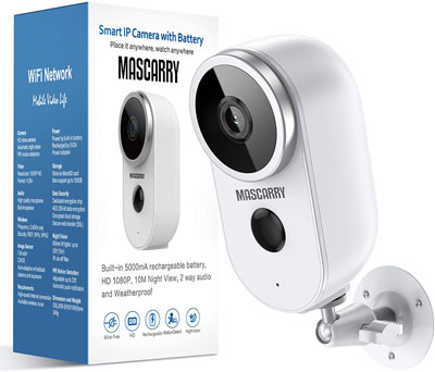 8. MASCARRY 1080P Surveillance Camera with 2-way Audio