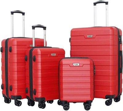 10. Ceilo Hardside Luggage with Aluminum Handle