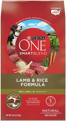 6. Purina ONE Natural Adult Lamb Dry Dog Food - SmartBlend