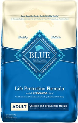 10. Blue Buffalo Natural Adult Dry Dog Food