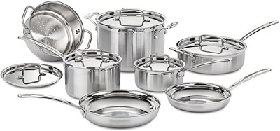 6. Cuisinart Multiclad Pro 12-Piece Cookware Set, MCP-12N