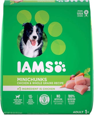 9. IAMS Chicken PROACTIVE HEALTH Minichunks Dry Dog Food