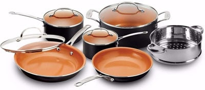 3. Gotham Steel Pots and Pans 10 Piece Cookware Set