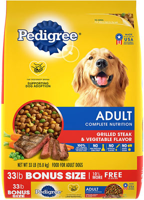 5. Pedigree Chicken & Steak Adult Dry Dog Food