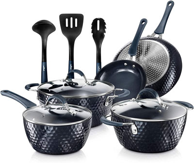 4. Nutrichef Nonstick Cookware Excilon Home Kitchenware Set