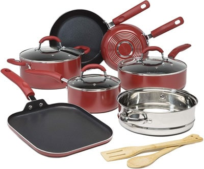 7. Goodful 12-Piece Premium Non-Stick Cookware Set