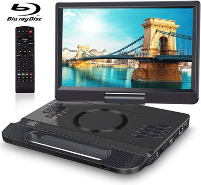 1. FANGOR Portable 12 Inch Blu Ray Player