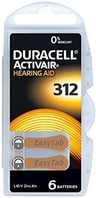1. Duracell Hearing Aid Batteries, 60 Count (Pack of 1)