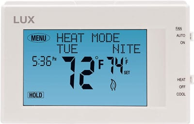 6. Lux Products TX9600TS Programmable Heating Cooling Thermostat