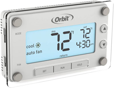 5. Orbit Clear Comfort Programmable Thermostat (83521)