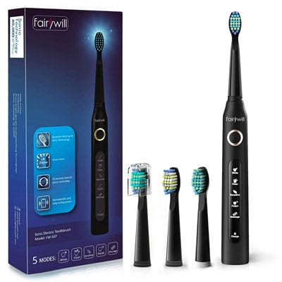 3. Fairywill ADA Accepted Sonic Cleaning Electric Toothbrush